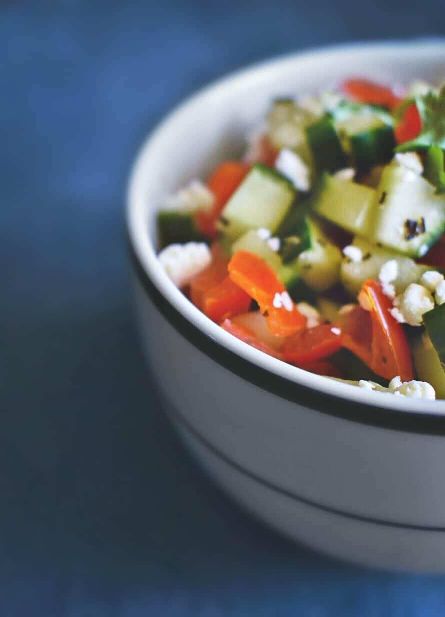mediterranean cucumber salad