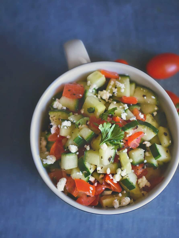zaatar cucumber tomato salad