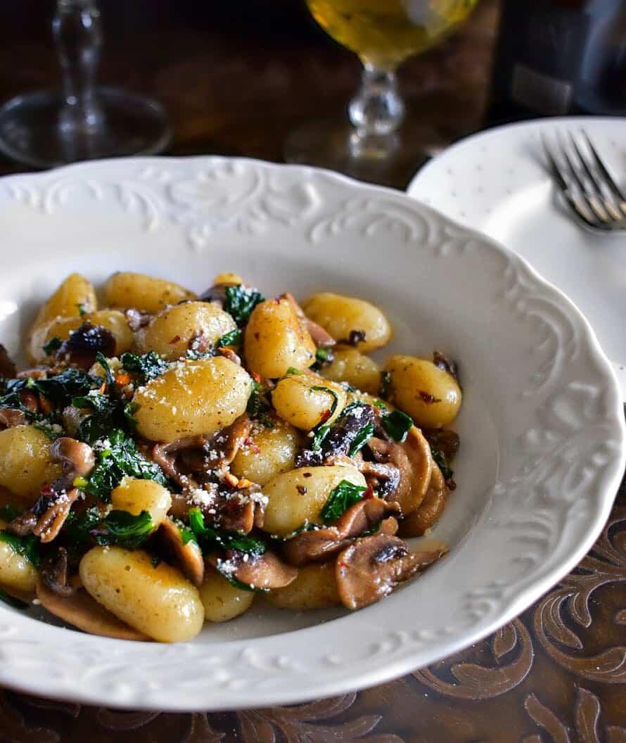 mushroom-spinach-gnocchi