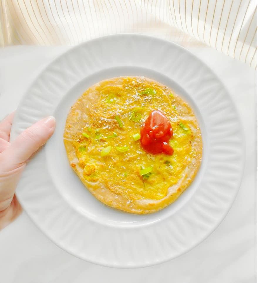 quick egg paratha