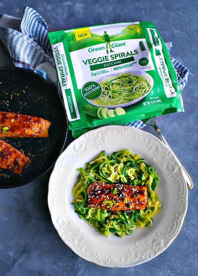 sweet spicy teriyaki salmon with zoodles-1