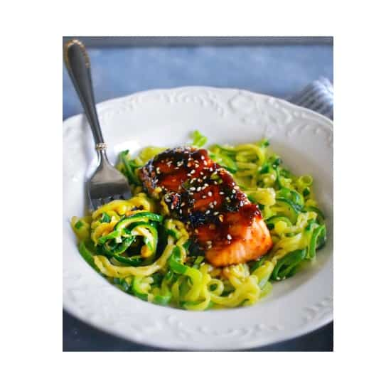 Easiest Sweet Spicy Teriyaki Salmon