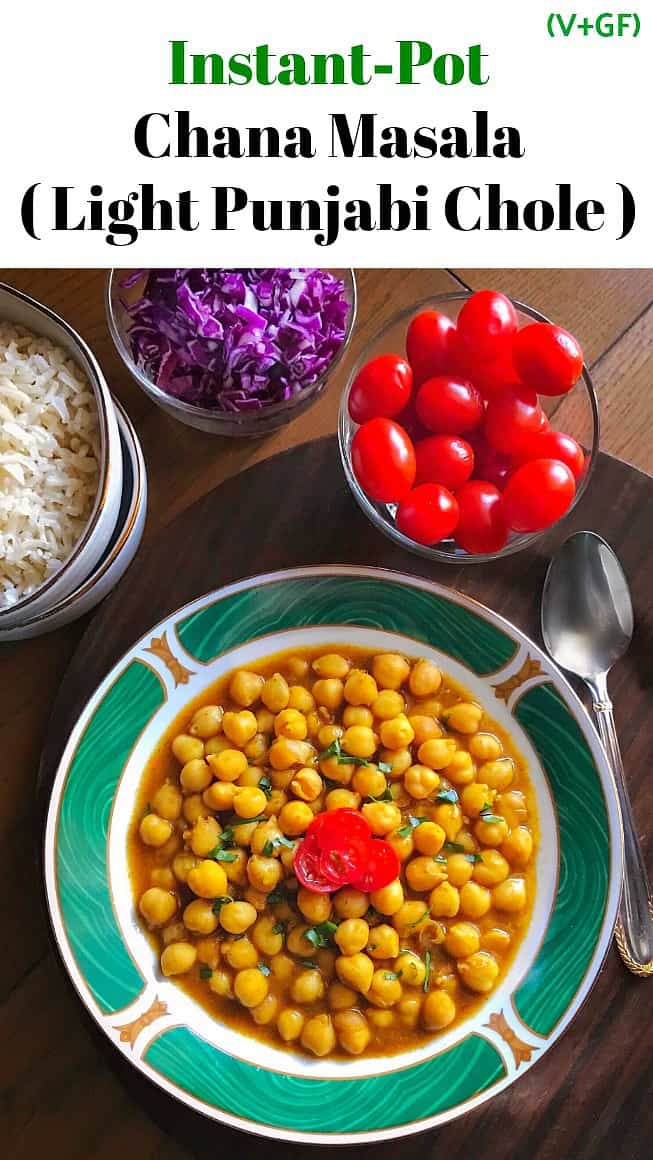 Instant Pot Chana Masala Chole: #instantpot #chana #masala #chole #indianfood #turmeric