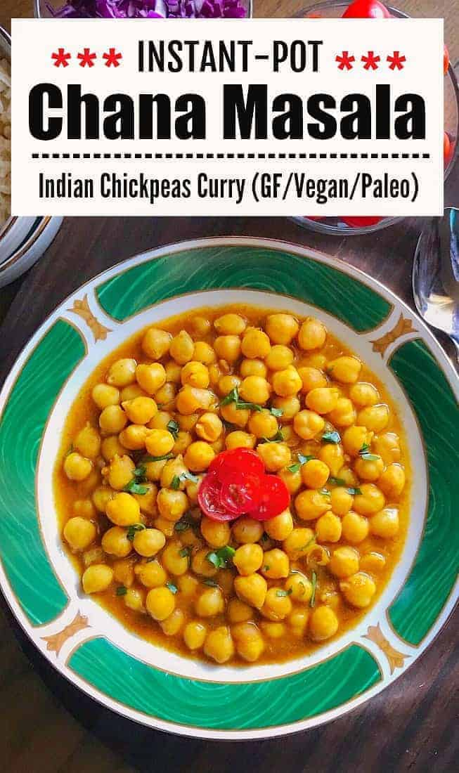Instant-Pot Chana Masala (Indian Chickpeas Curry)