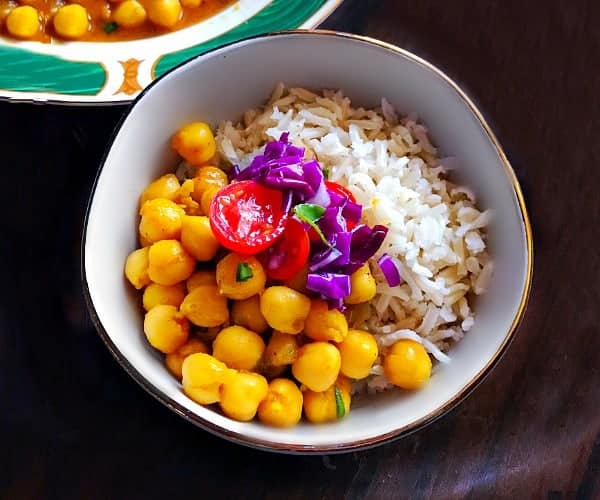 Instant-Pot Chana Masala - Indian Chickpea Stew #chickpea