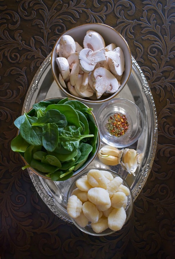 Mushroom Spinach Gnocchi Ingredients