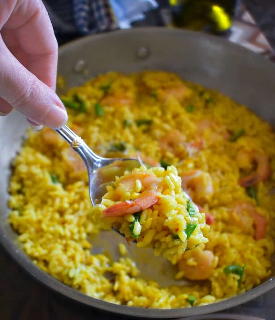 saffron risotto recipe along with tips for making the recipe perfectly everytime