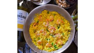 Quick Saffron, Shrimp and Asparagus Risotto