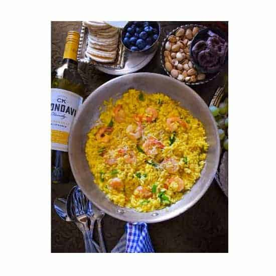 Saffron, Shrimp and Asparagus Risotto