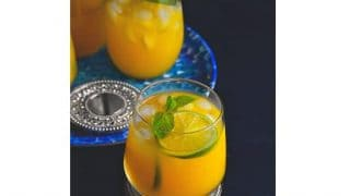 Iced Mango Mint Turmeric Green Tea