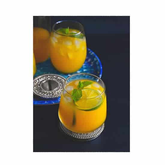 Iced mango mint turmeric green tea good for you tea gf v for California iced tea recipe