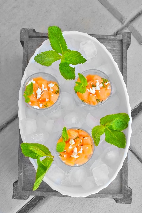 Melon Mint Cantaloupe Salad