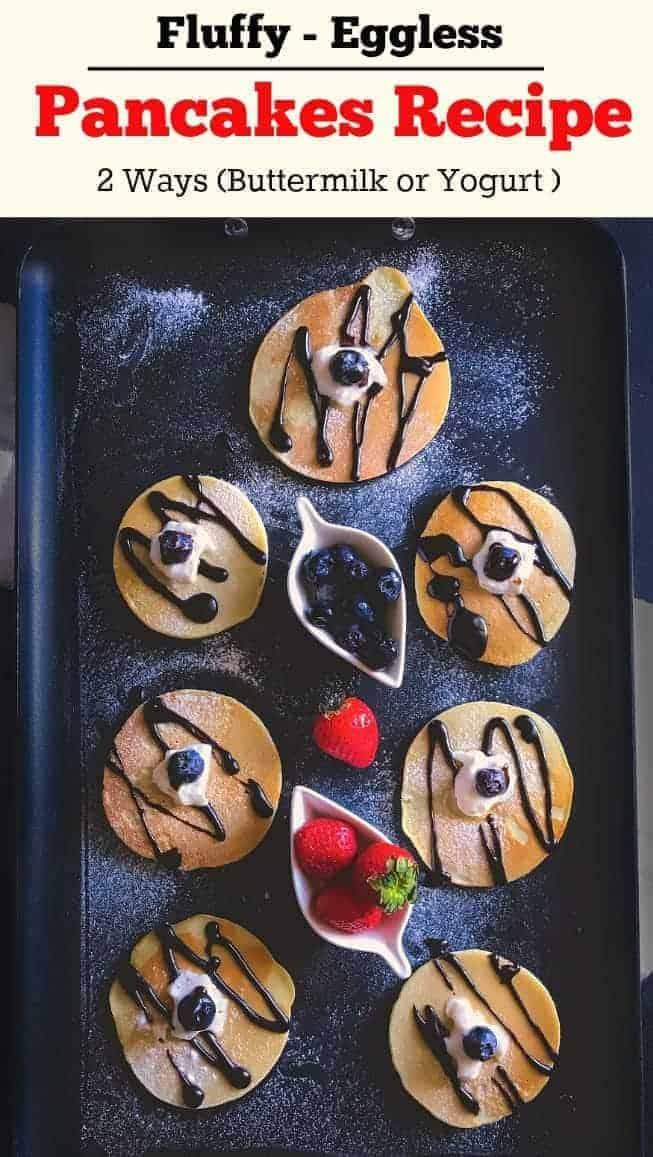 Fluffy Eggless Pancakes Recipe