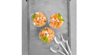 Melon Mint Cantaloupe Salad -Perfect for #BBQ & Party