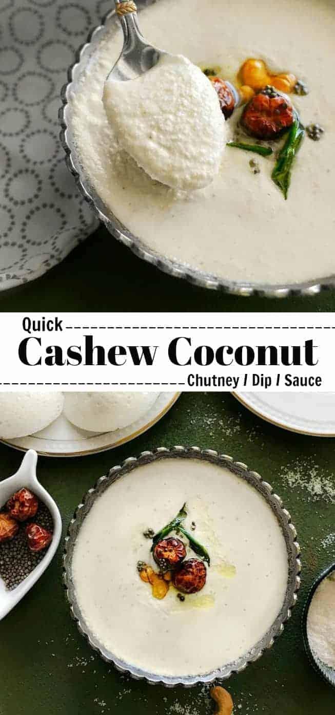 Quick Cashew Coconut Chutney: #cashew #coconut #chutney #dip #glutenfree