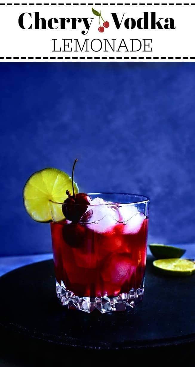 Quick Cherry Vodka Lemonade: #cherry #lemonade #cocktail #vodka