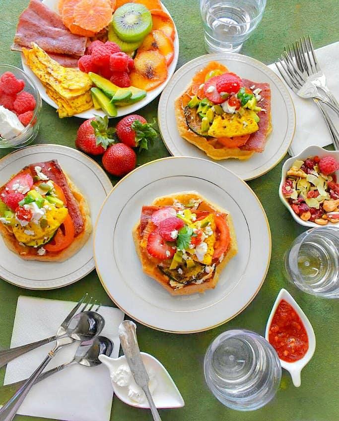 Best Ever Summer Waffle Sandwich
