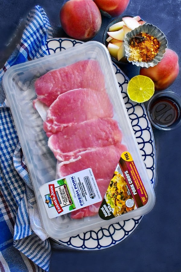 Peach Ginger Glazed Pork Chops ingredients