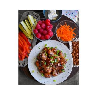 Vietnamese Banh Mi Meatballs in a plate