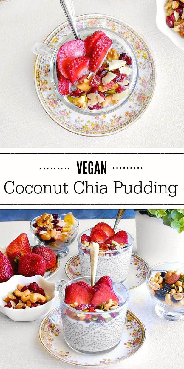 Vegan Coconut Chia Pudding: #chia #pudding #vegan #glutenfree #protein