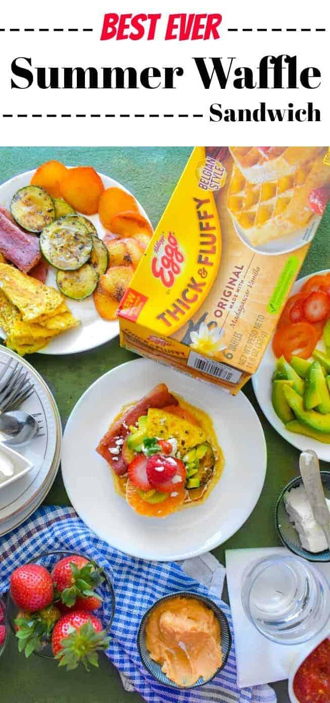 Best Ever Summer Waffle Sandwich: #waffle #breakfast #sandwich #LoveMyEggo #MoreEggo2Love #CollectiveBias #ad