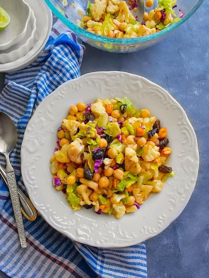 clean-eat-roasted-vegan-cauliflower-salad