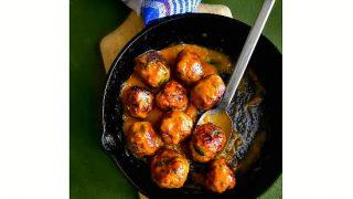 Quick Mango Habanero Meatballs