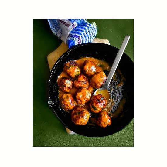 mango habanero pork meatballs recipe