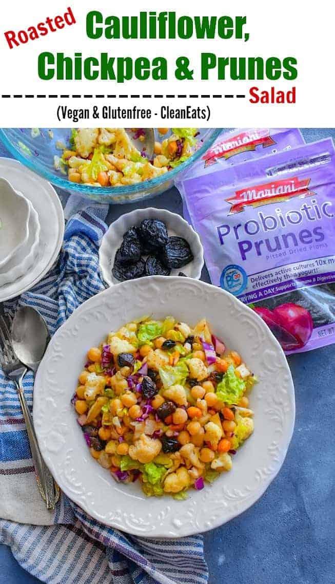 Roasted Cauliflower, Chickpea & Prunes Salad