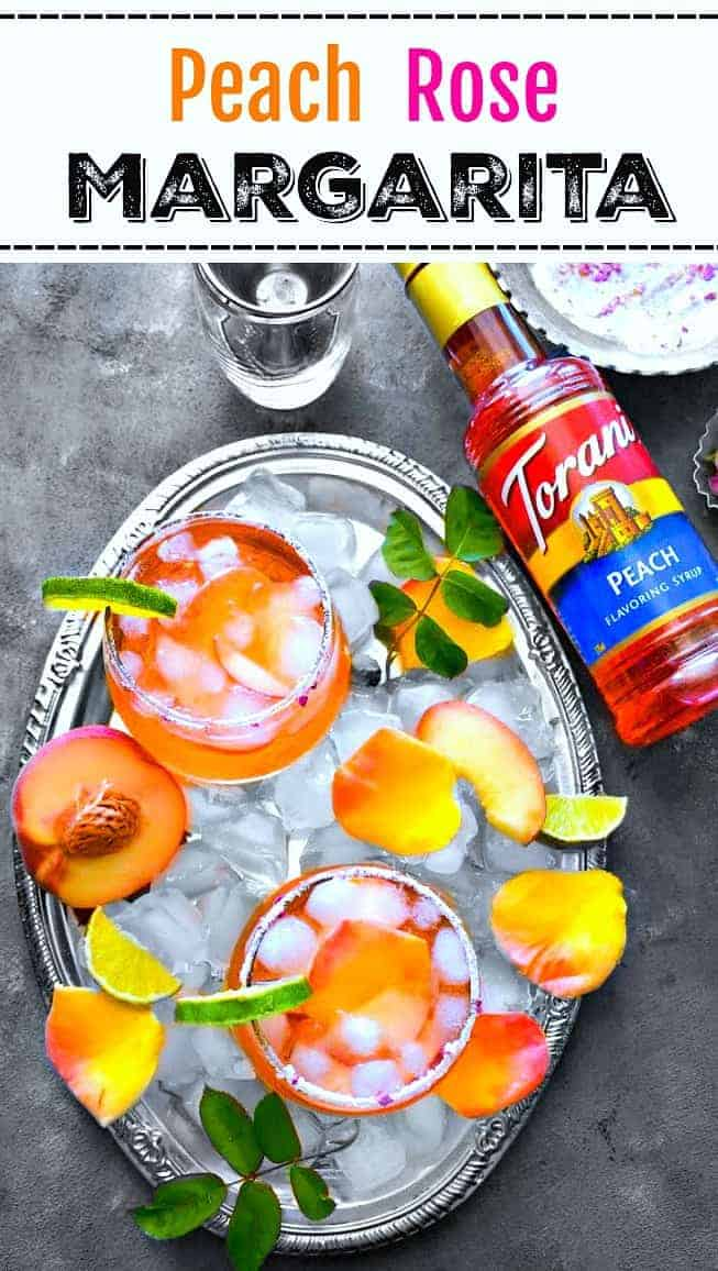 "Peach Rose Margarita: #margarita #peach #rose #cocktail #ToraniEndlessSummer #ad ""Msg 4 21+"""
