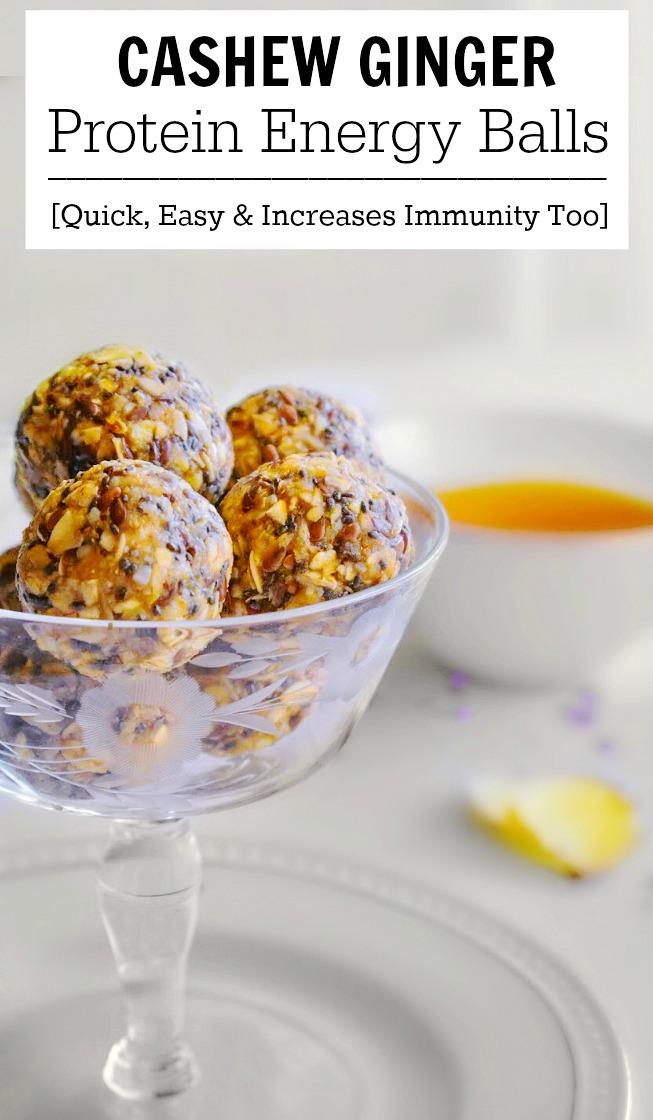 Cashew Ginger Protein Energy Balls