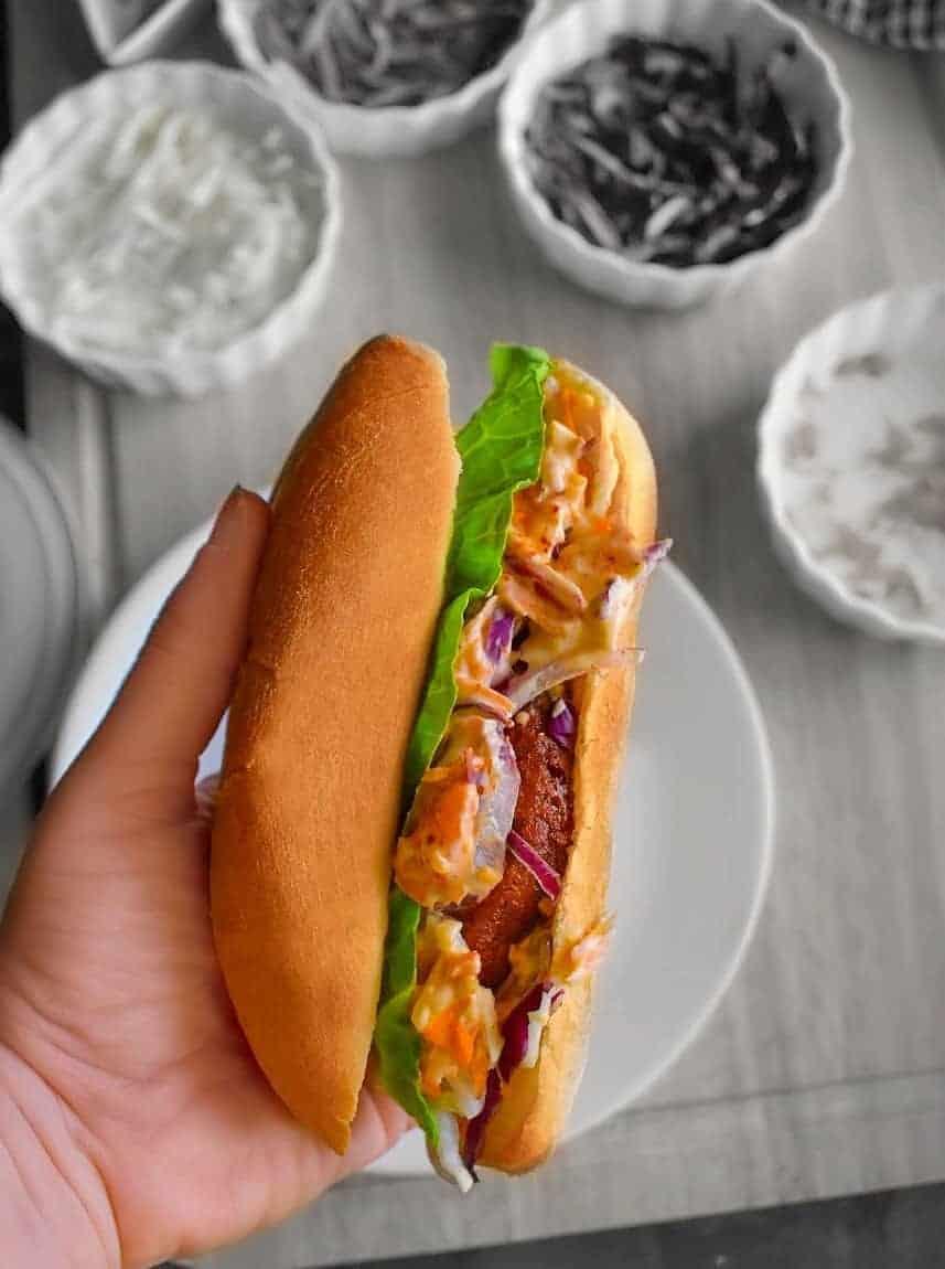 Veggie Po-Boy Sandwich