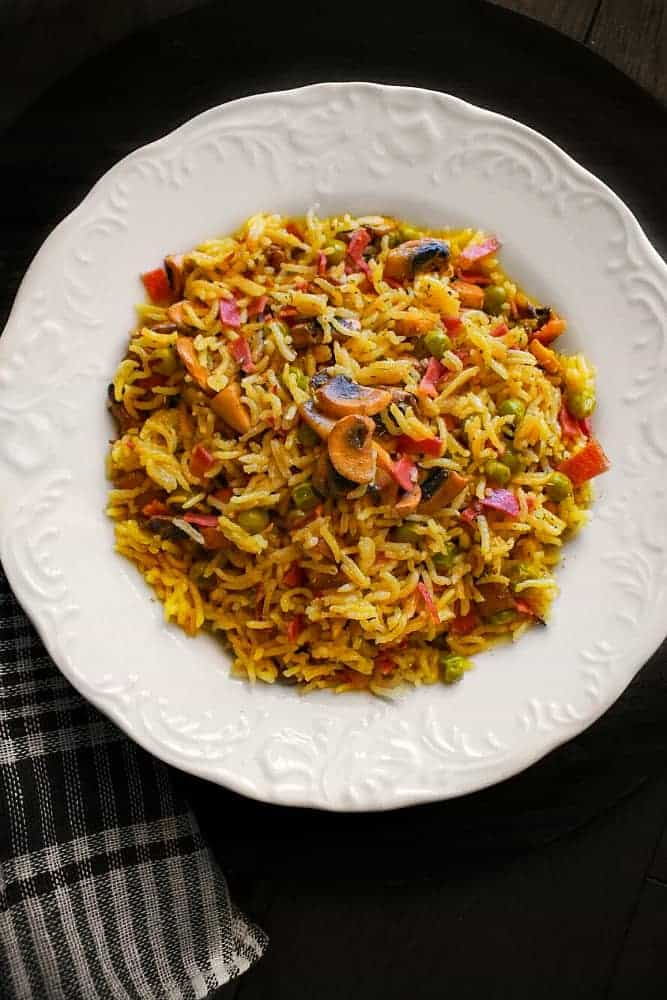 bacon curry fried rice