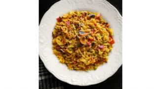 Bacon and Mushroom Curry Fried Rice