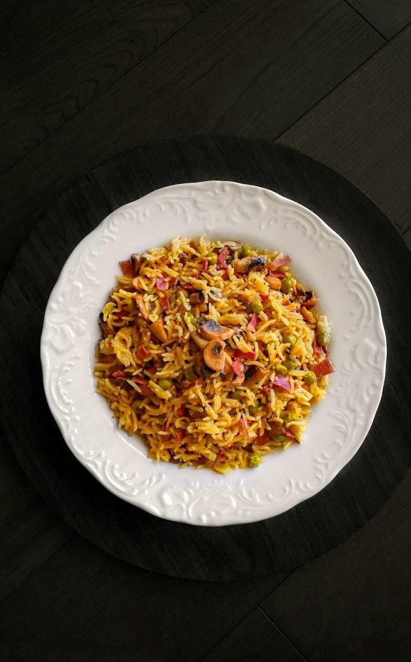 bacon mushrooms fried rice