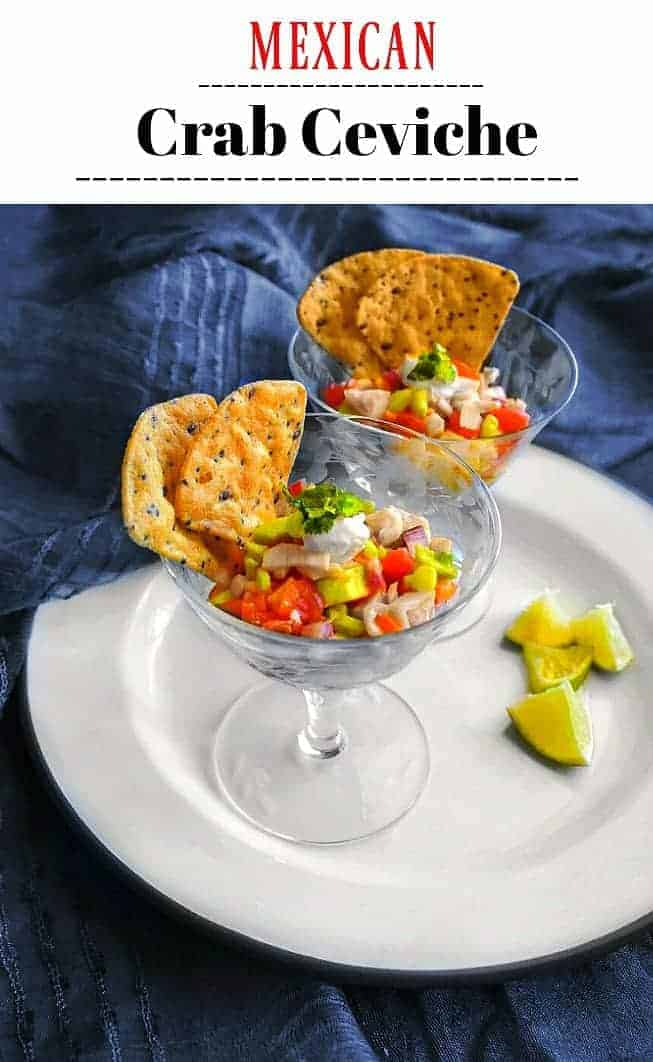 Mexican Crab Ceviche Recipe: #ceviche #crab #mexican #appetizer