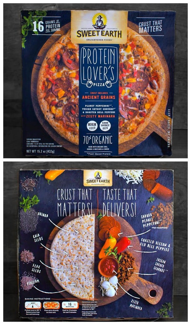 sweet earth protein lovers pizza review