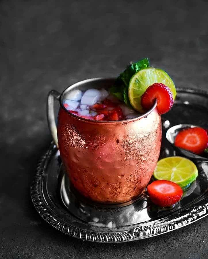 Strawberry Basil Mule recipe