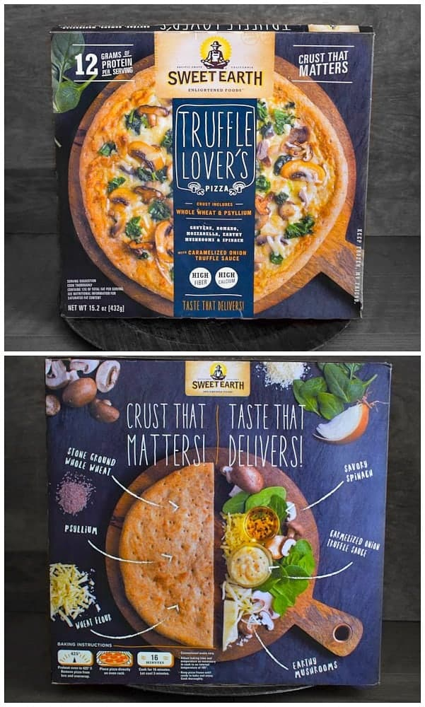 sweet earth truffle lovers pizza review