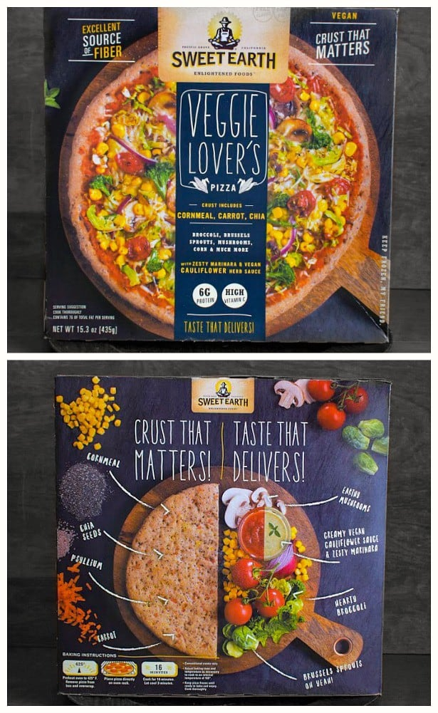 sweet earth veggie lovers pizza review