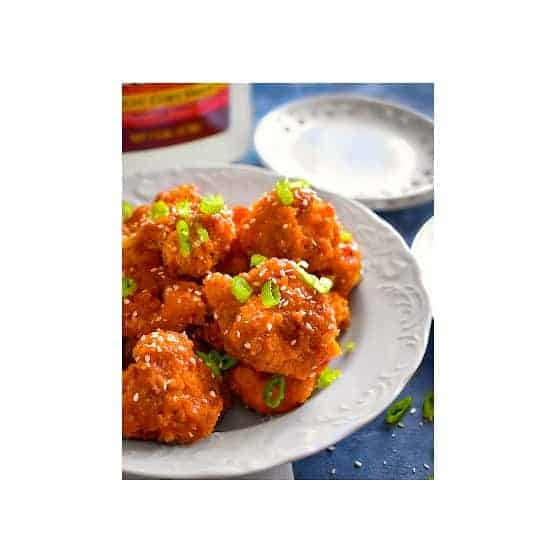 Sticky Spicy Cauliflower Wings (Baked & Vegan)