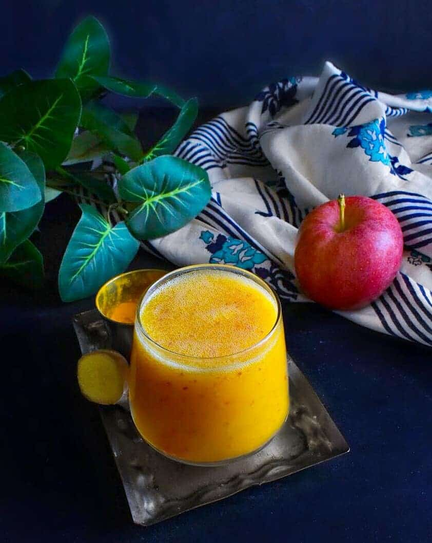 Turmeric Ginger and Apple Smoothie (Vegan & Glutenfree)