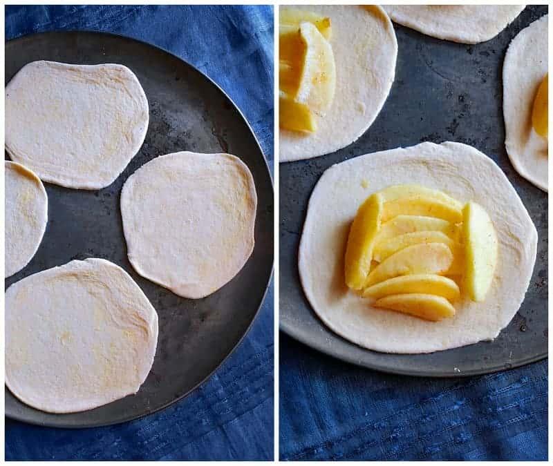 making the Breakfast Apple Crostata Recipe
