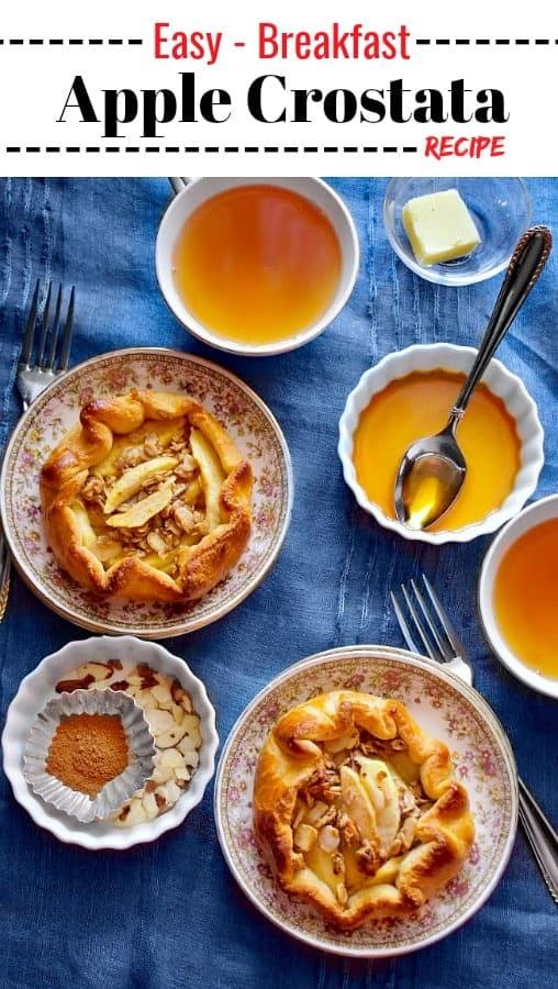 Easy Breakfast Apple Crostata Recipe: #apple #crostata #breakfast
