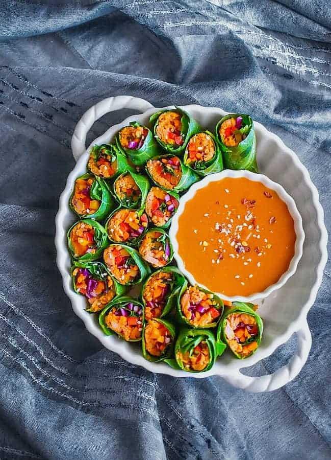 fresh vegetable tuna rolls