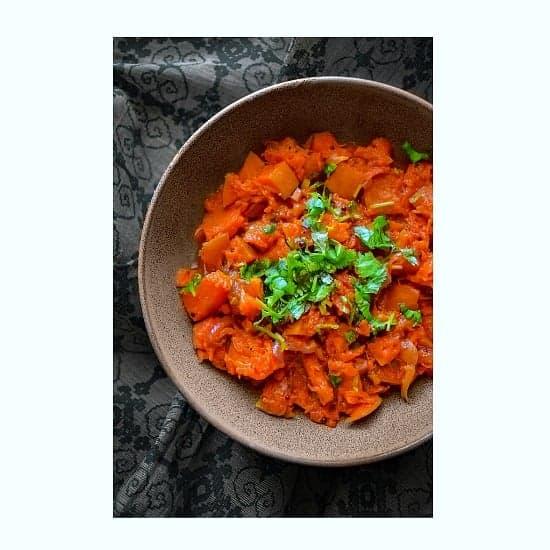 Pumpkin Masala Recipe (Kaddu ki Sabzi) Vegan+GF