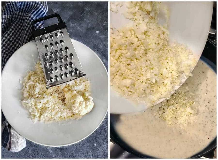 how to make cauliflower rice using fresh cauliflower