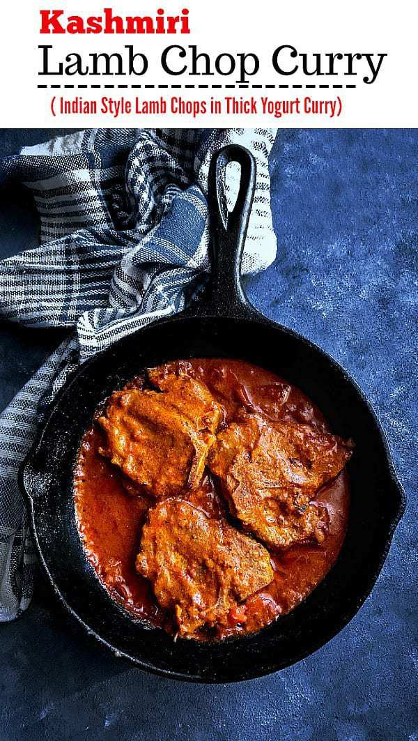 Kashmiri Lamb Chops Curry: #lambchops #lamb #indiancurry #curry