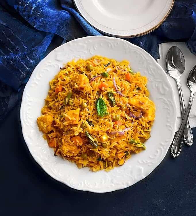 tofu curry fried rice