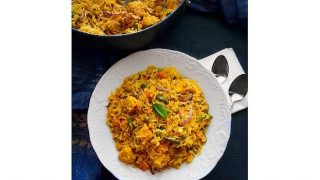 Curried Tofu Fried Rice (Indian Curry Rice + Vegan + GF)